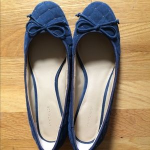 Ann Taylor Suede Navy Shoes